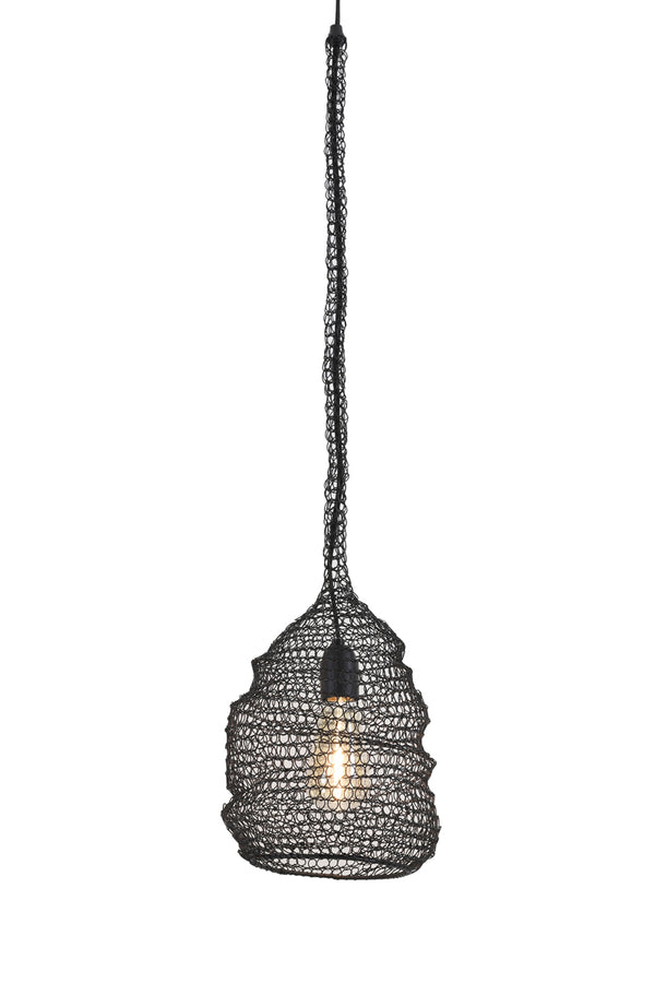 ALONS wire matt black hanging lamp