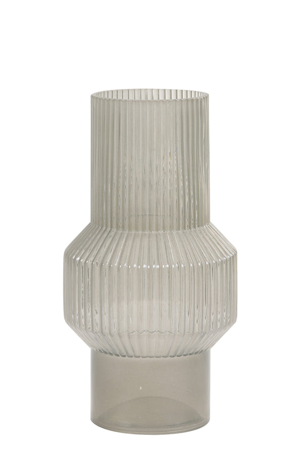 LEILA glass warm grey vase