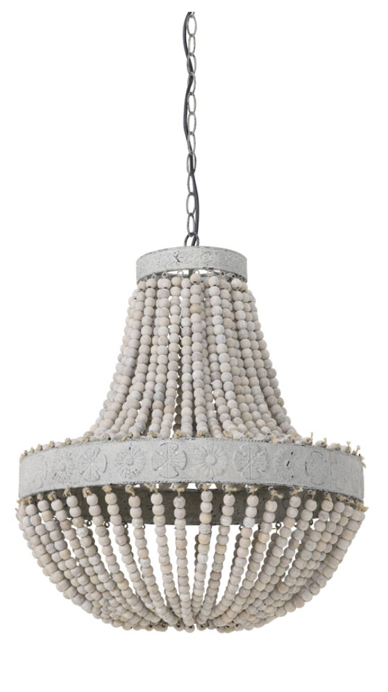 LUNA Old white hanging lamp beads