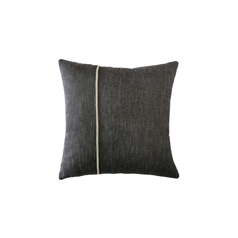 Asymmetric Contrast Piped Linen Cushion
