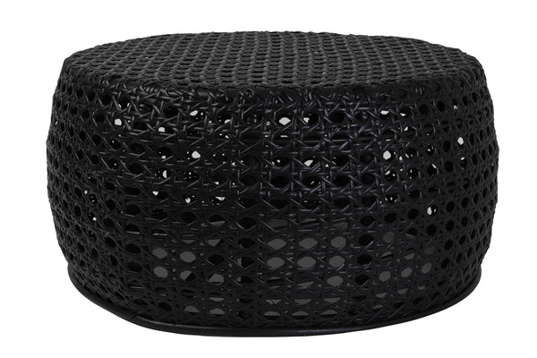PATON rattan black side table