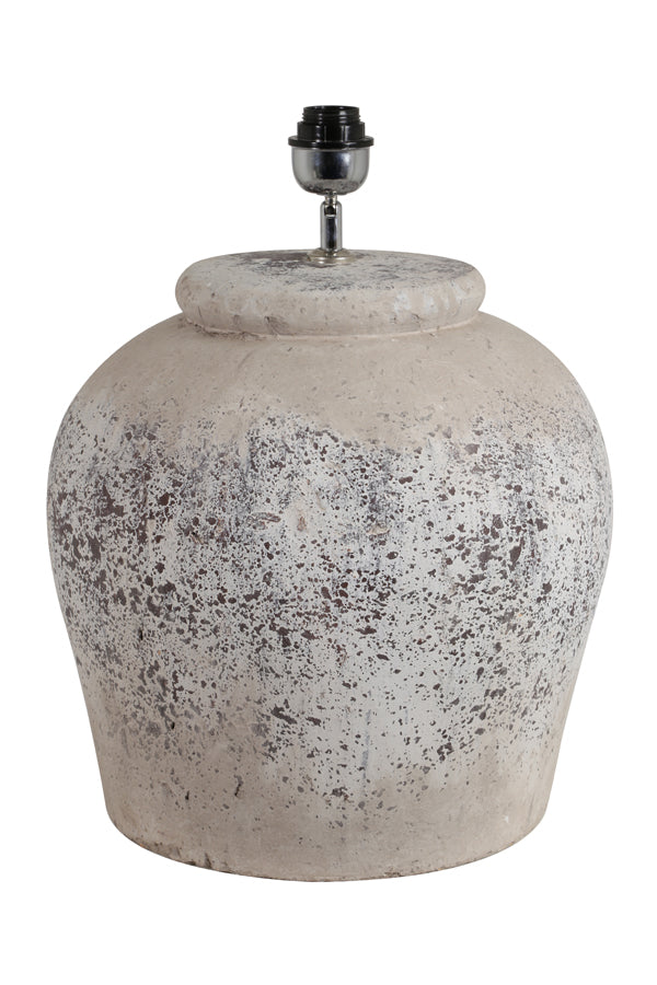 ETNA large antique grey lamp base