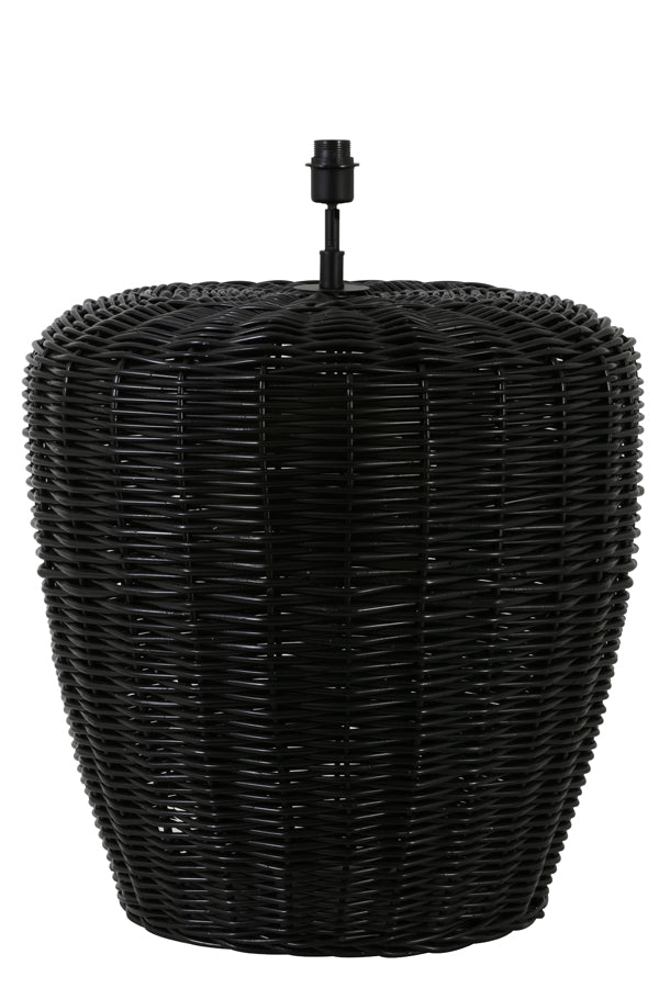 SOREANG rattan black lamp base