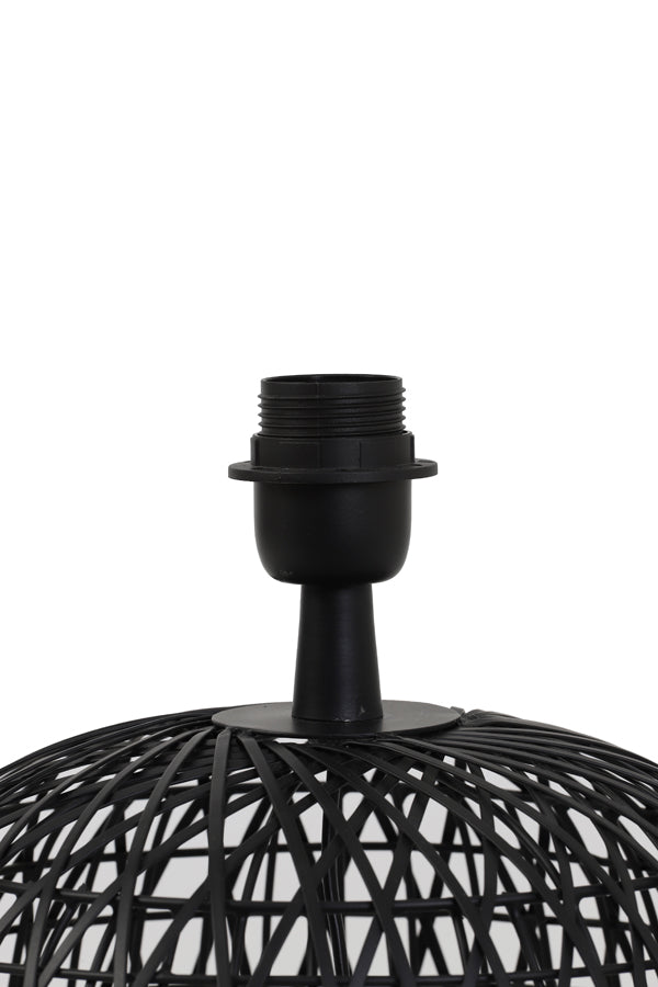 ALWINA matt black lamp base