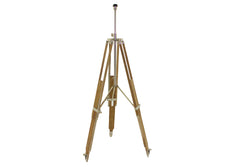 BOUDIN teak wood-nickel floor lamp tripod