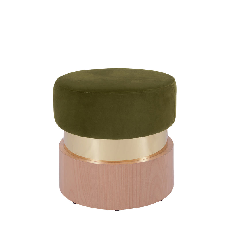 Alicia Velvet and Metallic Stool