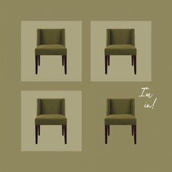 x4 FRANK DINING CHAIRS