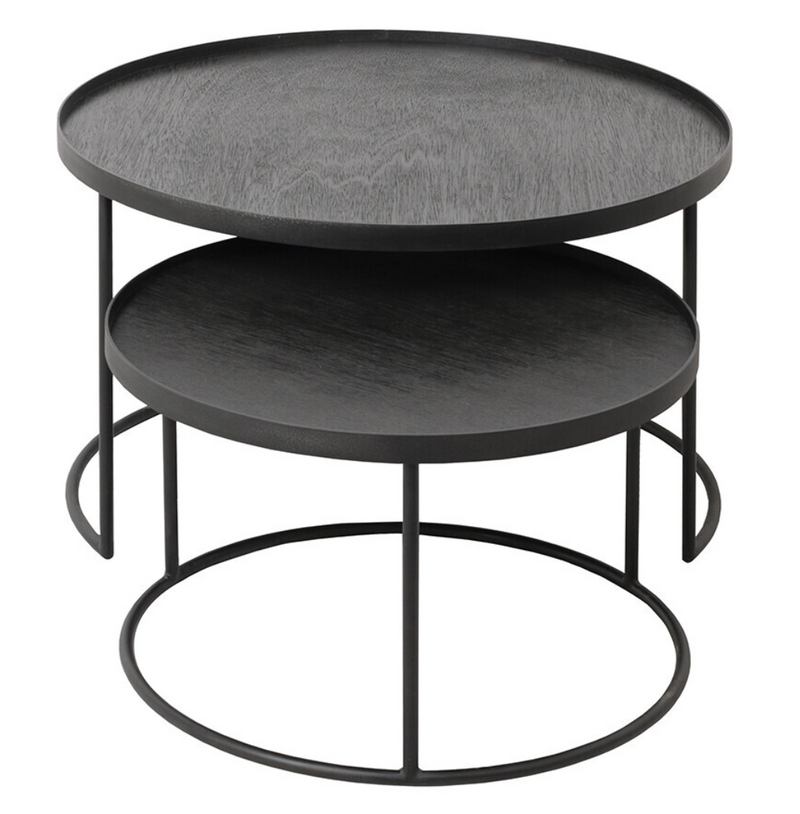 NOTRE MONDE ROUND TRAY COFFEE TABLE SET