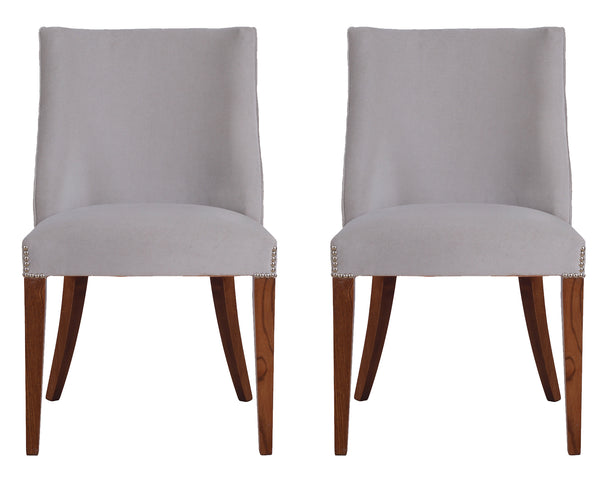 Troia Velvet Chairs - PAIR