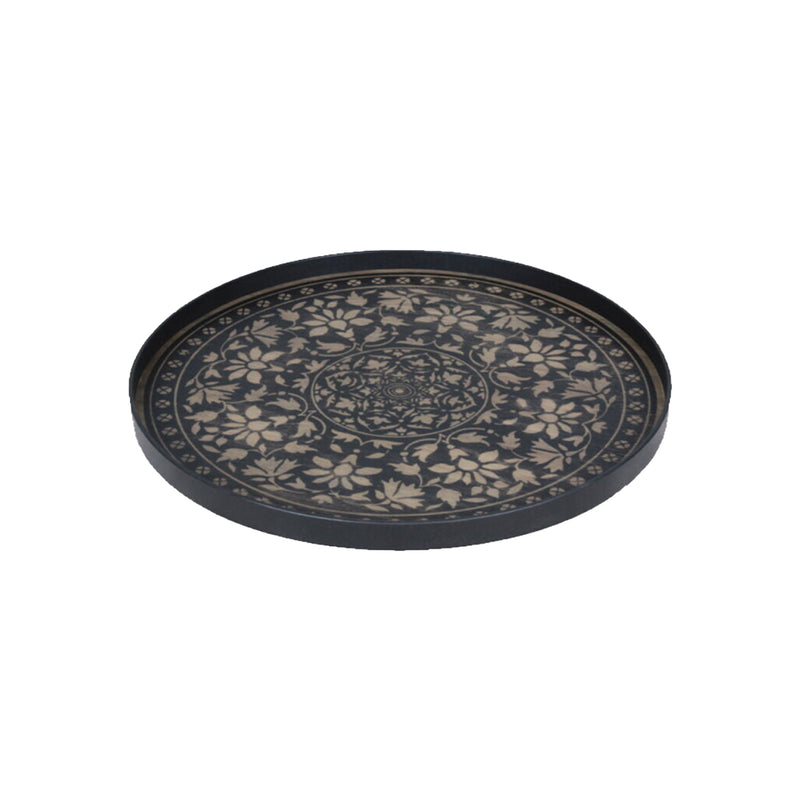 Notre Monde Black Marrakesh Wooden tray