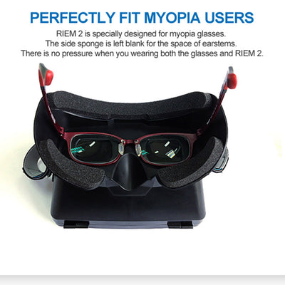 "Private 3D Virtual Reality Glasses Box with Magnetic HandBelt for 3.5 ~ 6.0"" Smart Phones - Go Sunglasses"