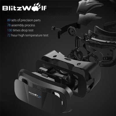 Original 3D VR Virtual Reality Glasses Headset For any 3.5-6.3 Inch Phones - Go Sunglasses