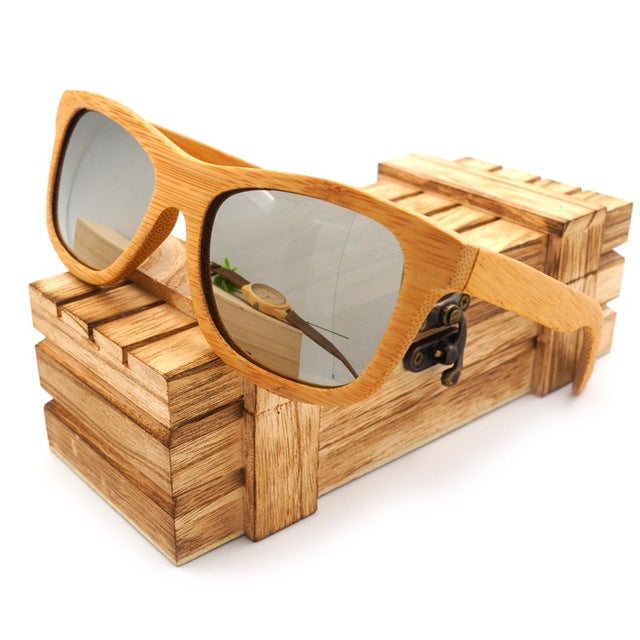 BOBO BIRD 6 color Polarized Bamboo Wood Sunglasses Women Men - Go Sunglasses