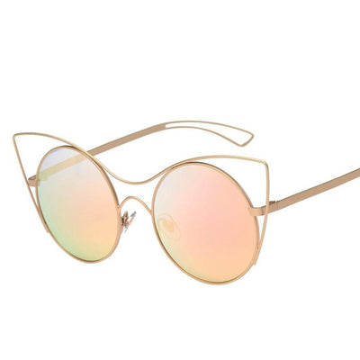 Cat Eye Lady  Sunglasses Women Brand Designer Metal Frame - Go Sunglasses