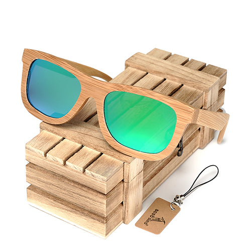 Brand Design Handmade Simple Fashion Style Nature Bamboo Sunglasses Women Men