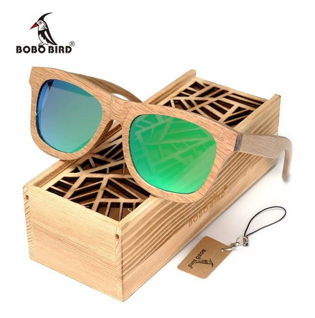 BOBO BIRD New Fashion Handmade Wood Wooden Sunglasses - Go Sunglasses