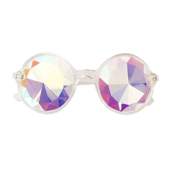 Sunglasses Multicolor Sunglass Glasses 3D Rainbow Crystal Lenses