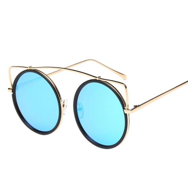 New Fashion Full Rim Glasses Women Sunglasses