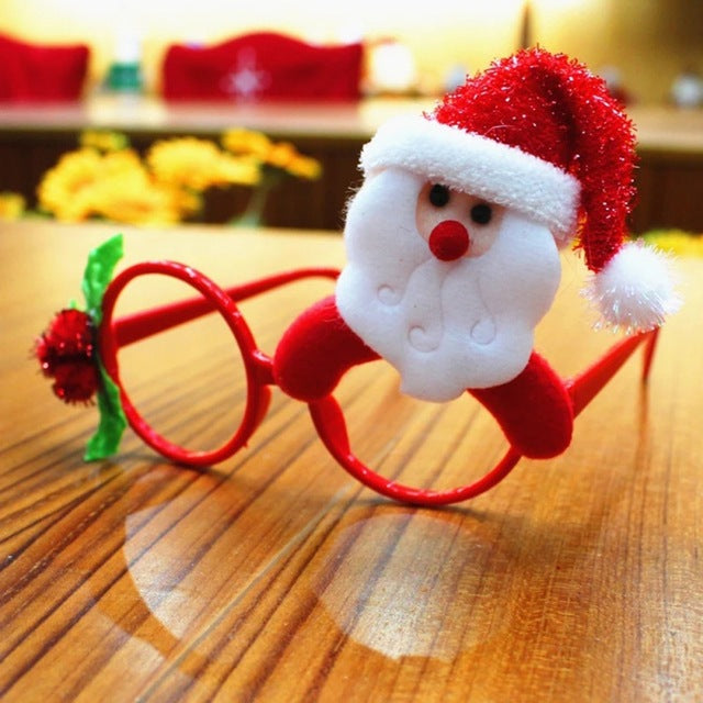 Kids Adult Christmas Sunglass Eyeglass Costume Eye Frame Toy Christmas Party Gift