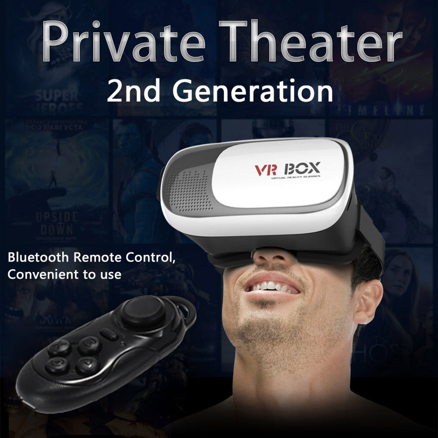 "VR BOX Pro Version 3D Glasses for 4~6""smartphone+Bluetooth V3.0 Wireless Controller Gamepad"