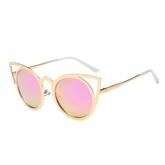 New Fashion Big Cat  Sunglasses Metal Frame