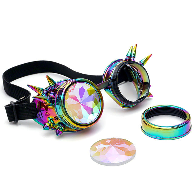 Unisex Retro Steampunk Glasses Kaleidoscope