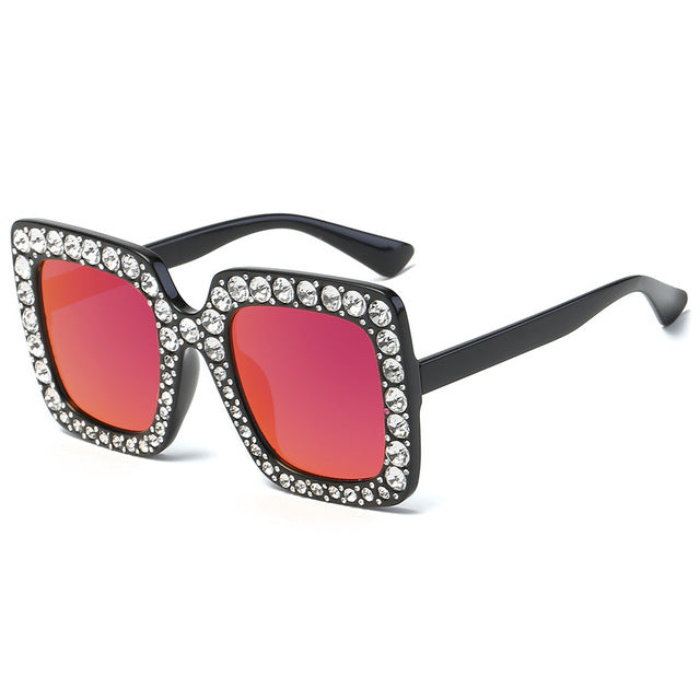 Luxury Diamond Oversized Square  SunGlasses