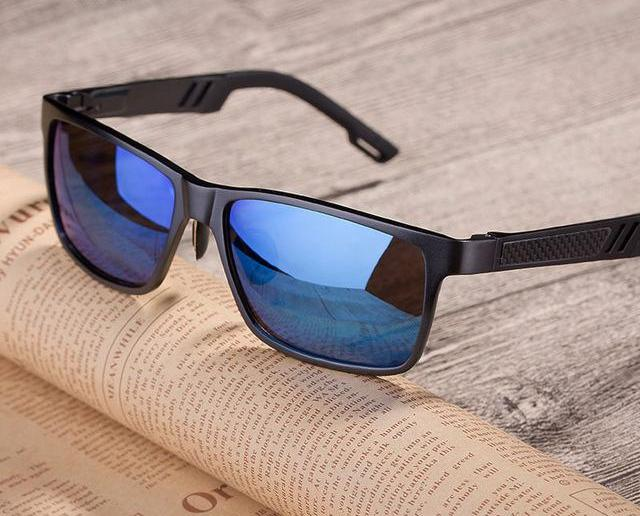 Black Square Sun Glasses Cool Driving Eyewear