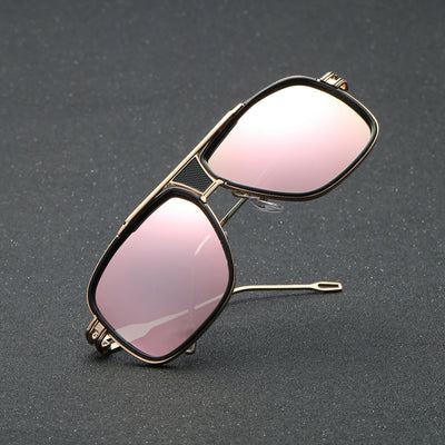 Women's Sunglasses Men's Glasses Fashion Quadrate Metal Frame - Go Sunglasses