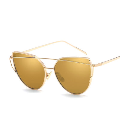 Cat Eye Vintage Gold Sunglasses - Go Sunglasses