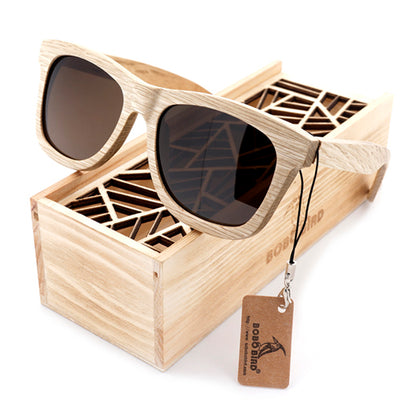 Men Women Fashion 100% Handmade Wooden Sunglasses Cute Design - Go Sunglasses