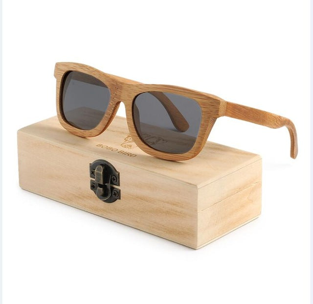 BOBO BIRD Men Women Wooden Bamboo Sunglasses Ladies Eyewear Handmade - Go Sunglasses