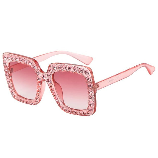 Women's Artificial Diamond Cat Ear Classic Sunglasses