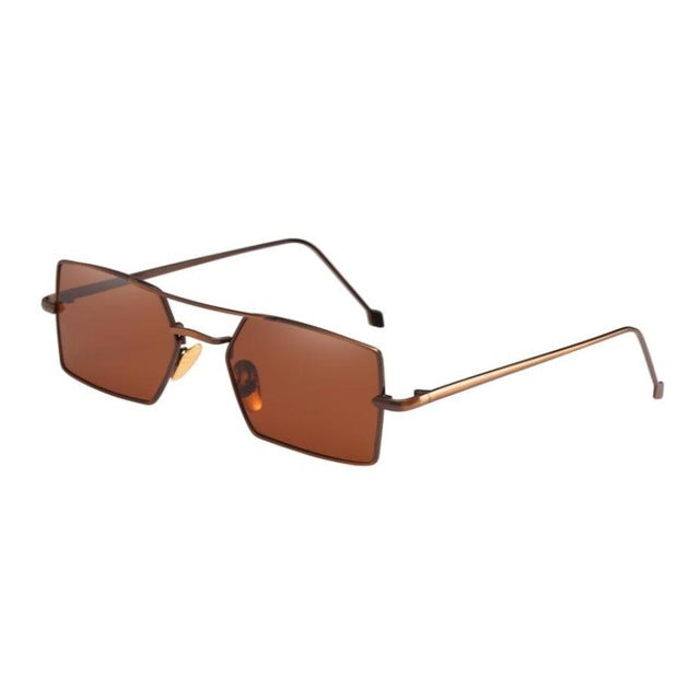 Women Men Four Square Metal Frame Shades Sunglasses 2018 Brand