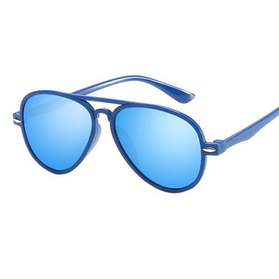 Fashion KidsKids Retro Anti-UV Sunglasses Color Film Glasses For Boys&Girls Baby Suitable For Children Aged 3-10#LD - Go Sunglasses