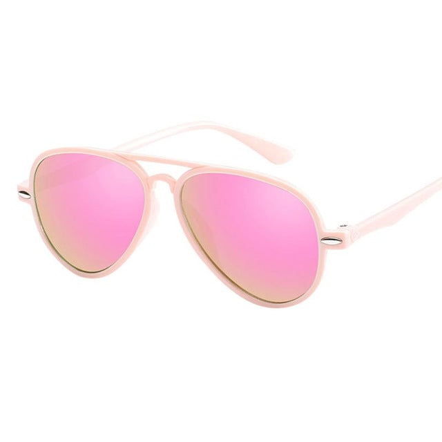 Fashion KidsKids Retro Anti-UV Sunglasses Color Film Glasses For Boys&Girls Baby Suitable For Children Aged 3-10#LD