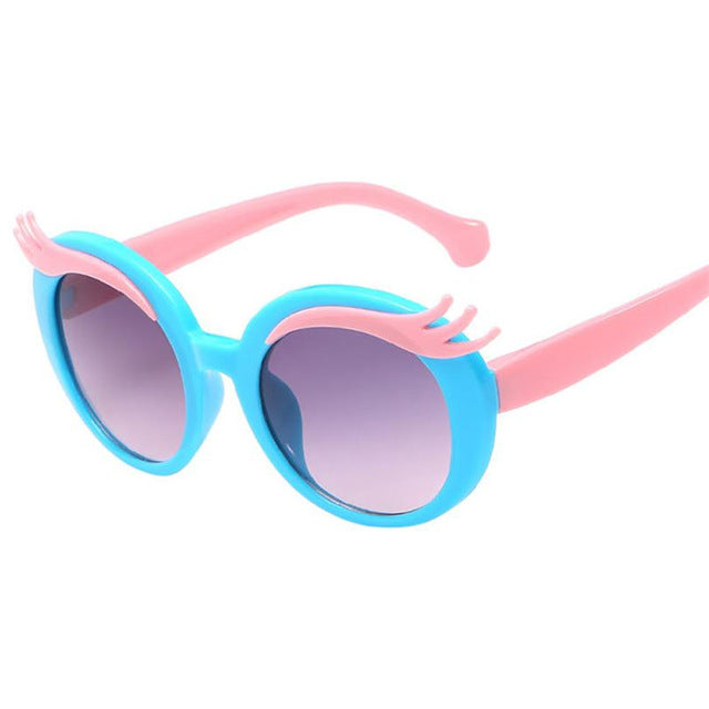 6 Colors Kids Baby Children Sunglasses Anti-UV Glasses Cartoon Boys Goggle Girls Bow New Summer Outdoor - Go Sunglasses