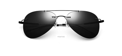 Hot Luxury Frameless Aviation Polarized Sun Glasses - Go Sunglasses