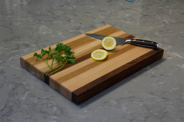 Butcher Block Cutting Board | Serving Tray Stove Top Cover | J Thomas Home