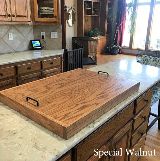 THICK OAK STOVE TOP COVER - J Thomas Home