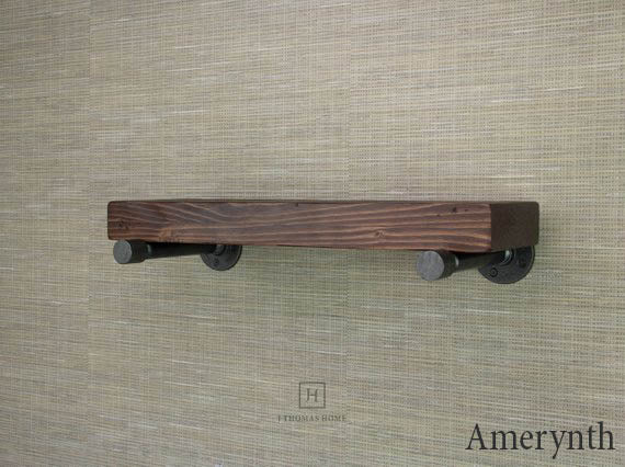 "2.5"" THICK INDUSTRIAL PIPE FLOATING SHELF 