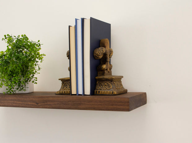 WALNUT PREMIUM HIDDEN BRACKET FLOATING SHELF - J Thomas Home