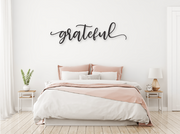 GRATEFUL WOODEN WALL SIGN | FARMHOUSE DECOR | Sign | J Thomas Home