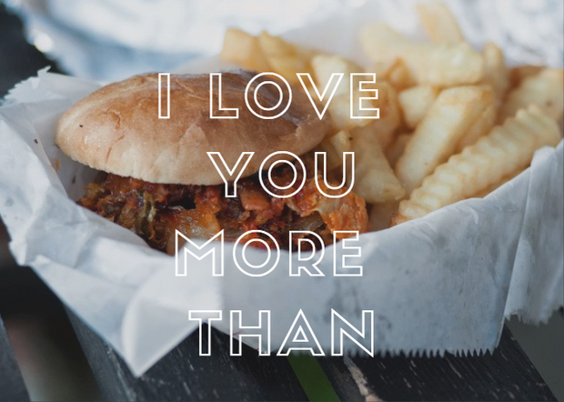 Printable Valentine's Day Card - Burger | External | J Thomas Home
