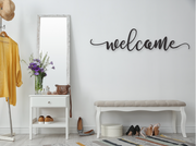WELCOME WOODEN WALL SIGN | FARMHOUSE DECOR | Sign | J Thomas Home