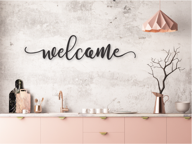WELCOME WOODEN WALL SIGN | FARMHOUSE DECOR - J Thomas Home