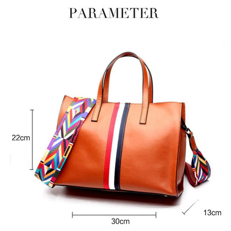 Women Genuine Leather Handbags Fashion Casual Totes Designer brand Shoulder bag Large Crossbody bags