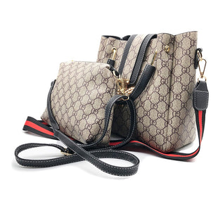 2019 new fashion handbags Women's 2pcs set messenger bag luxury designer Satchel shoulder bag zipper hasp Bee composite bags