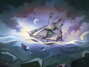 """Set Sail With Books—Night Version"" Digital Download Print"