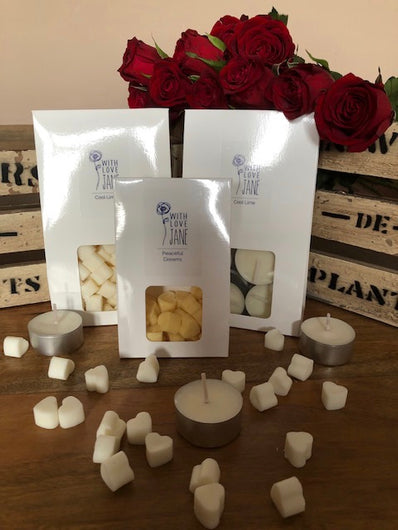 Soy Wax Melts and Tealights from With love Jane